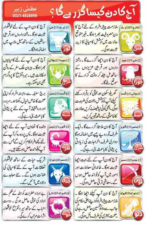 Today Horoscope 7th June 2015 In Urdu Read Online