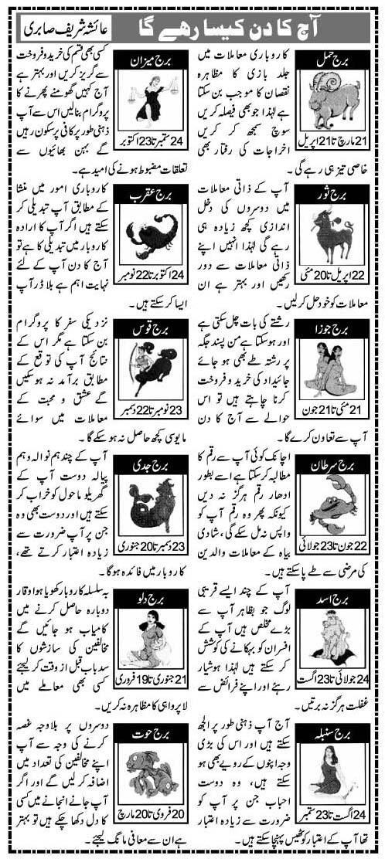 Daily Horoscope in Urdu 17 November 2015 Today