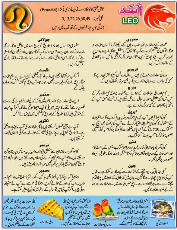 Daily Horoscope in Urdu 6 December 2015