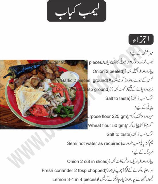 Lamb Kebab Recipe in Urdu Cooking